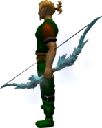 Ice bow equipped