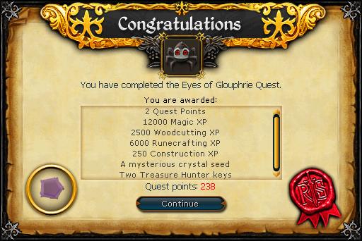The Eyes of Glouphrie reward