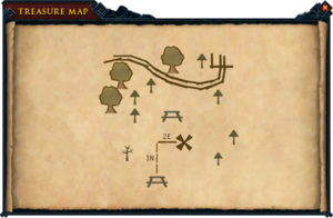 Map clue Legends' Guild