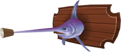 Mounted swordfish (built)