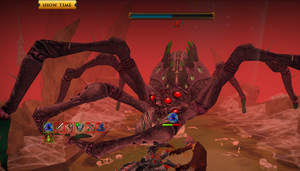 Unsuccessfully dodging Araxxor's charge