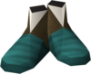 Ancient ceremonial boots detail