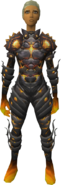 Lava Outfit (female) equipped