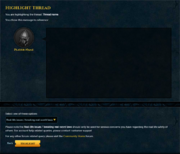Forum highlight function