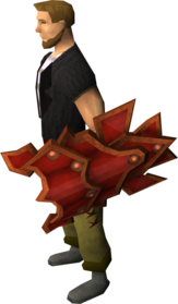 Dragon square shield equipped