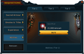 Requisitions Abilities (Armadyl Tier 1)