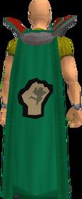 Retro strength cape equipped