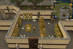 Emote clue Yawn Varrock Palace library
