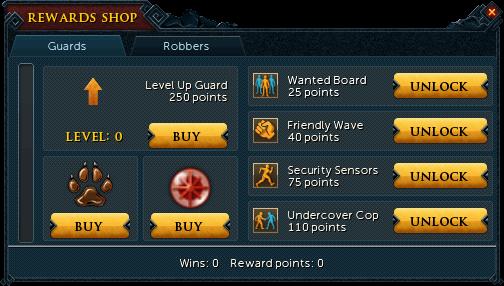 Heist reward shop (Guards)