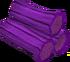 Purple logs detail