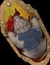 Anti-dragon shield (mole) detail