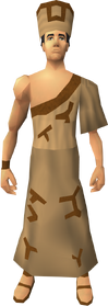 Villager clothing (brown) equipped