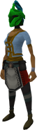 Rune heraldic helm (Guthix) equipped