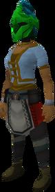 Rune heraldic helm (Guthix) equipped