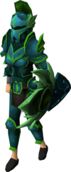 Guthix armour set (lg) female equipped