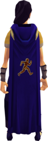 Hooded agility cape equipped