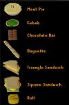 Sandwich lady food menu old