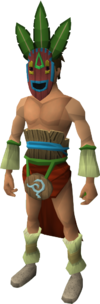 Witchdoctor camouflage gear set equipped