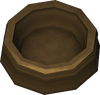 Dog bowl (brown) detail