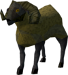 Golden sheep sheared