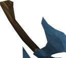 Off-hand rune throwing axe