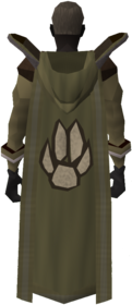 Retro hooded hunter cape equipped