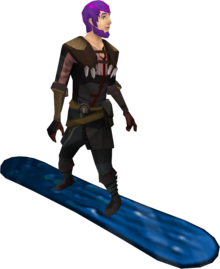 Snowboard (shark) equipped