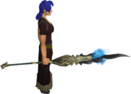 Drakewing staff equipped