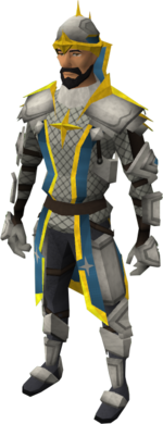 Demon slayer armour equipped