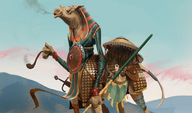 Camel warrior concept art news image