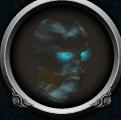 Ghostly druid head chathead