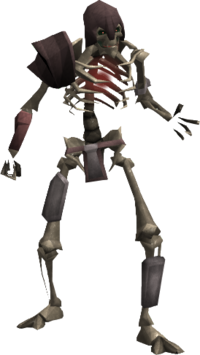 Skeleton bone thrower
