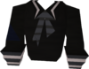 Black naval shirt detail