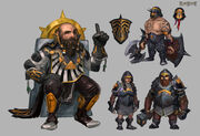 Dwarven black guard concept art
