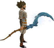 Ice sickle equipped