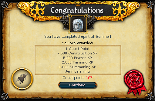 Spirit of Summer reward