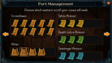 Port management scrolls