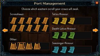 Port management scrolls