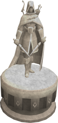 Rough-hewn ranged statue
