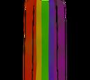 Rainbow cape