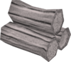 White logs detail