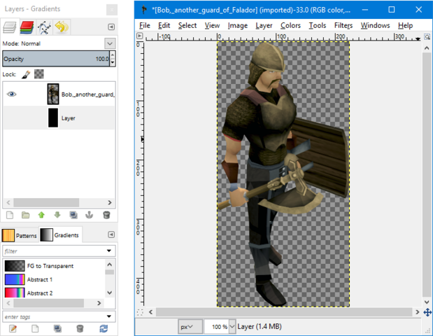 File:GIMP - layers window visibility.png