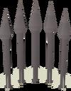 Iron bolts detail