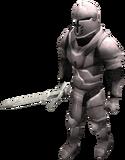 Animated steel armour