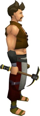 File:Gilded iron pickaxe equipped.png