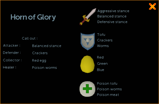 Horn of Glory interface