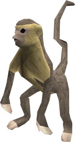 File:Monkey (grey and beige) pet.png