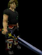 Shadow Owen's longsword equipped