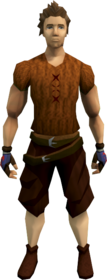 Malicious rogue gloves equipped
