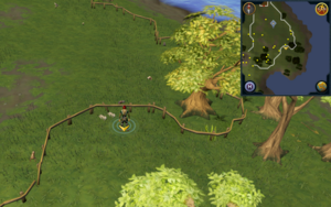 Scan clue Piscatoris Hunter area south of Falconer by fence